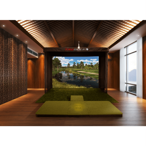 TruGolf Vista 12 Golf Simulator At Home Set Up