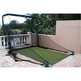 The Net Return Pro Series Side Barriers outside on patio