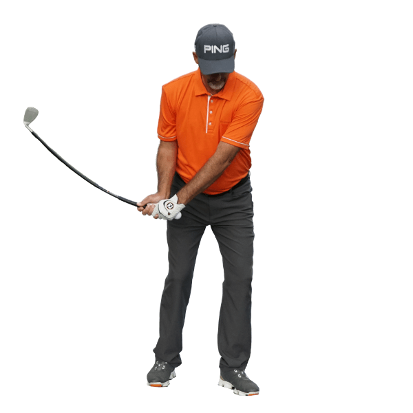 backswing with orange whip wedge