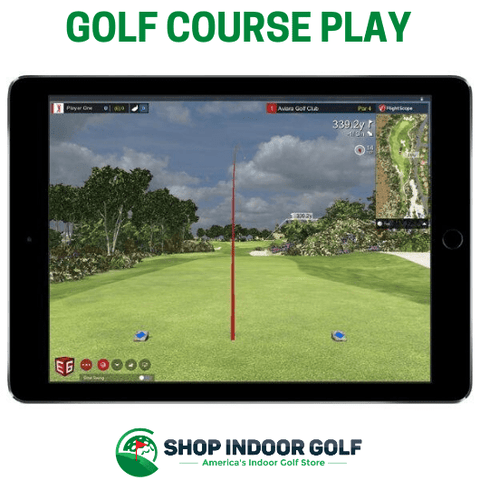e6 golf course play on flightscope mevo plus