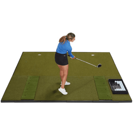 fiberbuilt 10' x 10' combo golf mat with putting green