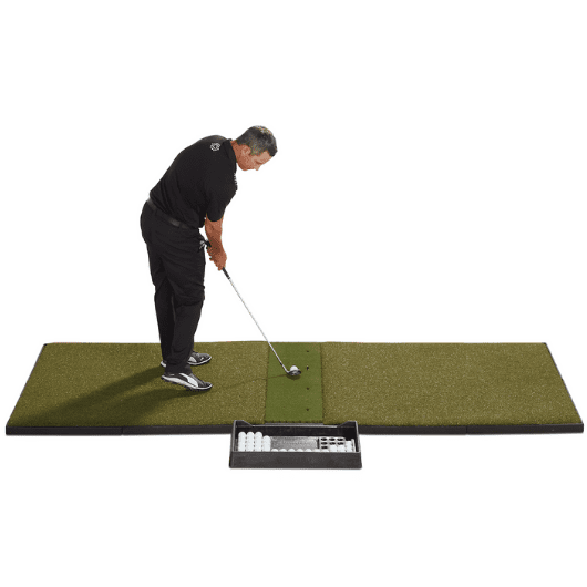 fiberbuilt 4' x 10' center hitting performance golf mat