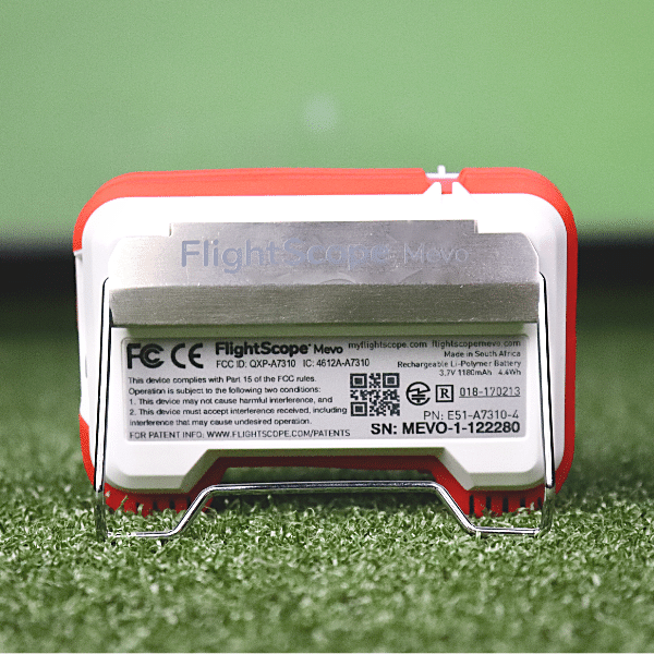 flightscope mevo launch monitor rear view