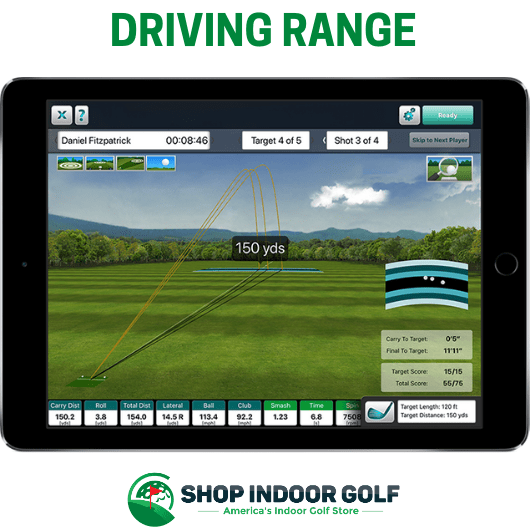driving range environment within fs skills app for flightscope mevo plus