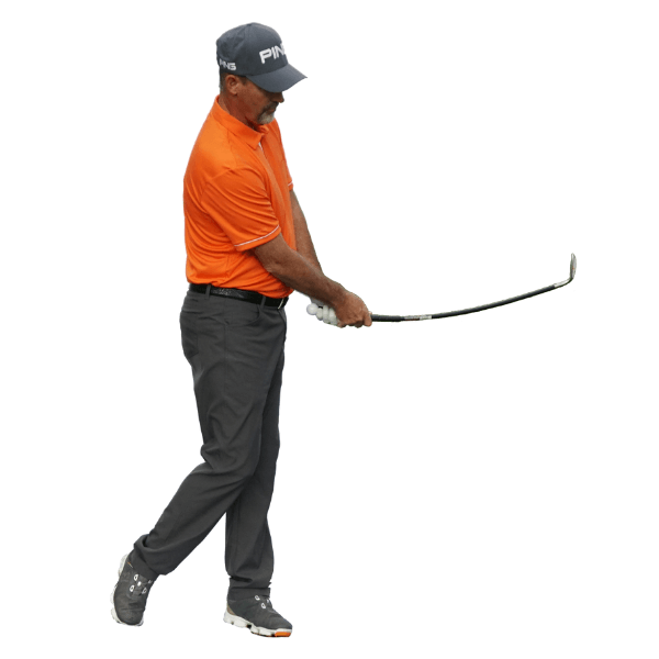follow through with orange whip wedge