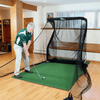 Image of hitting-golf-ball-into-mini-pro-series-net