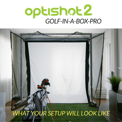 optishot golf in a box pro set up at home