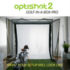 Image of optishot golf in a box pro set up at home
