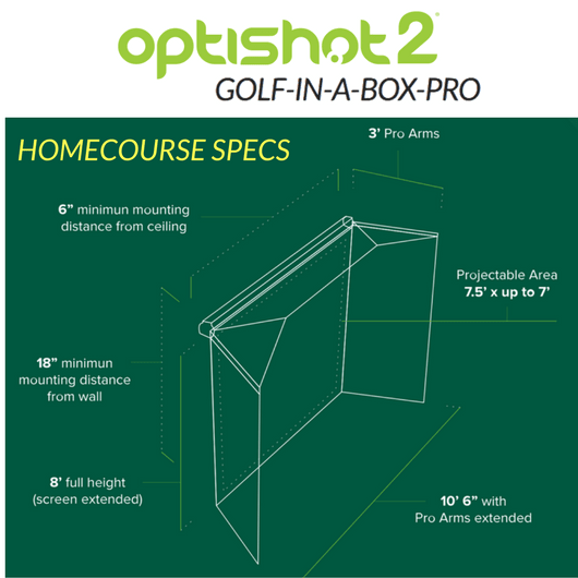 specs for the homecourse pro retractable screen