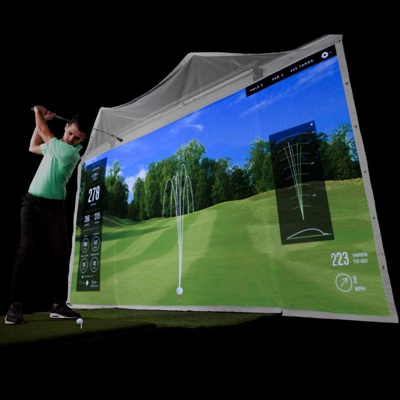 HomeCourse Pro Retractable Golf Simulator Screen