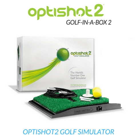optishot 2 golf simulator included in golf in a box 2 package