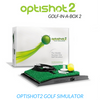 Image of optishot 2 golf simulator included in golf in a box 2 package