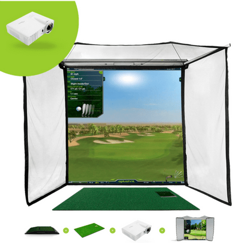 optishot golf in a box pro golf simulator package