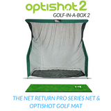 net return pro series net included in optishot golf in a box 2 simulator package