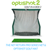 Image of net return pro series net included in optishot golf in a box 2 simulator package