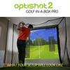 Image of what your golf simulator set up will look like with the golf in a box pro