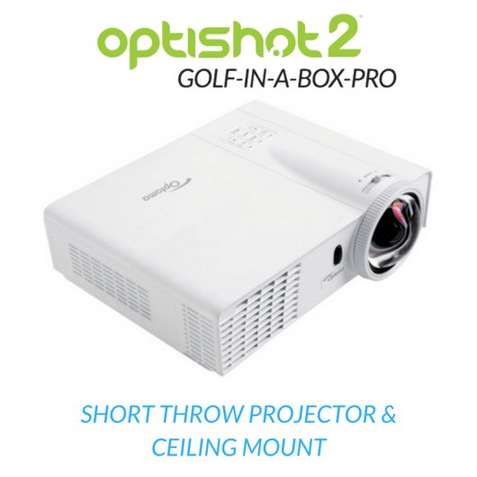 projector included in the optishot golf in a box package