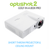 Image of projector included in the optishot golf in a box package