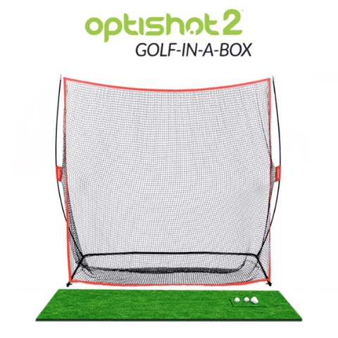 optishot golf in a box with new net and mat