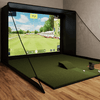 Image of optishot ballflight sig12 golf simulator with 4x7 golf mat