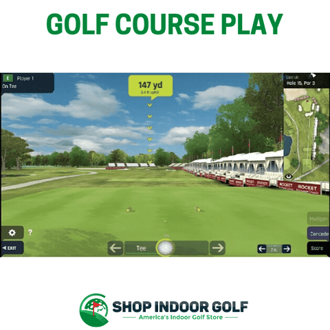 optishot ball flight simulator golf course play