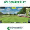 Image of optishot ball flight simulator golf course play