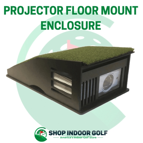 projector shield golf simulator floor mount enclosure