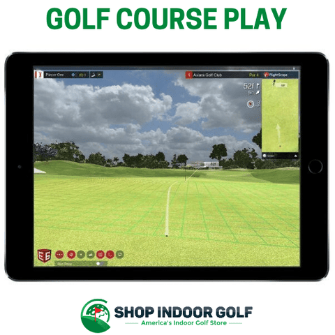 flightscope mevo plus golf course play