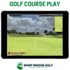 Image of flightscope mevo plus golf course play