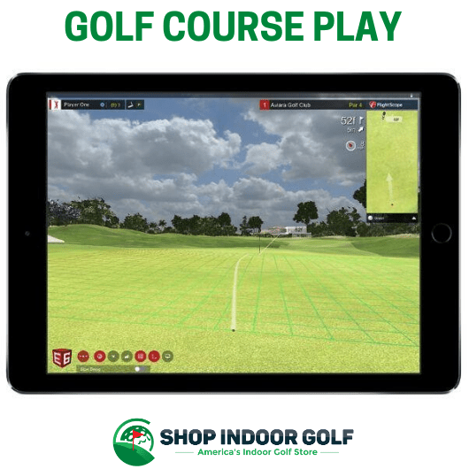 putting during round of golf on e6 connect for flightscope mevo plus