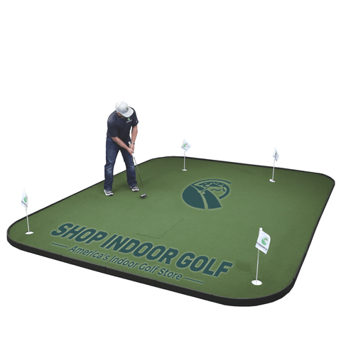 putting on sigpro golf simulator flooring