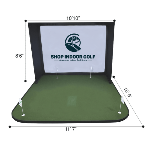 sigpro golf simulator flooring dimensions for SIG10 enclosure