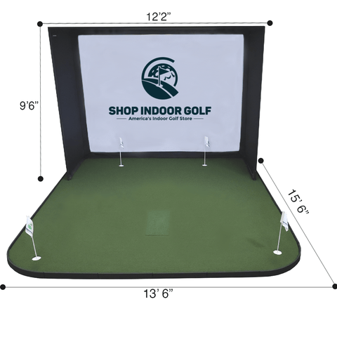 sigpro golf simulator flooring dimensions for SIG12 enclosure