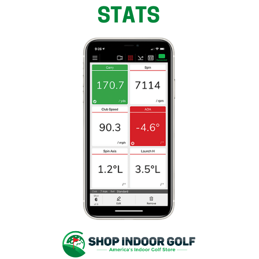 flightscope mevo plus golf shot stats provided