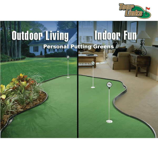 tour links putting green for indoors or outdoors