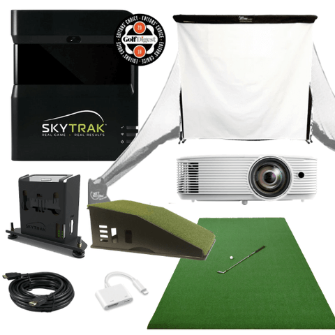 what's included in skytrak bronze golf simulator package