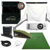 Image of what's included in skytrak bronze golf simulator package