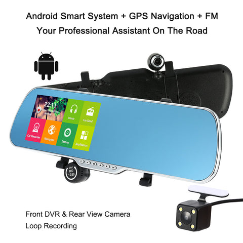 Rear View Mirror Camera, Touchscreen and GPS Navigation
