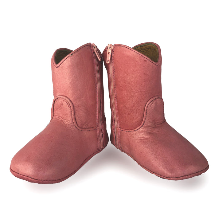bee boot pink,  plain or add monogram