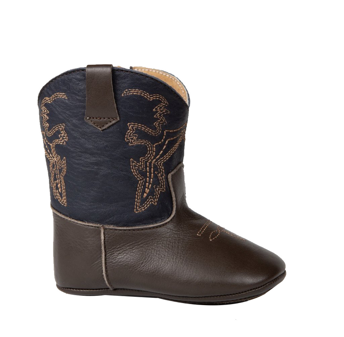Chocolate / Navy Blue Frisco boots