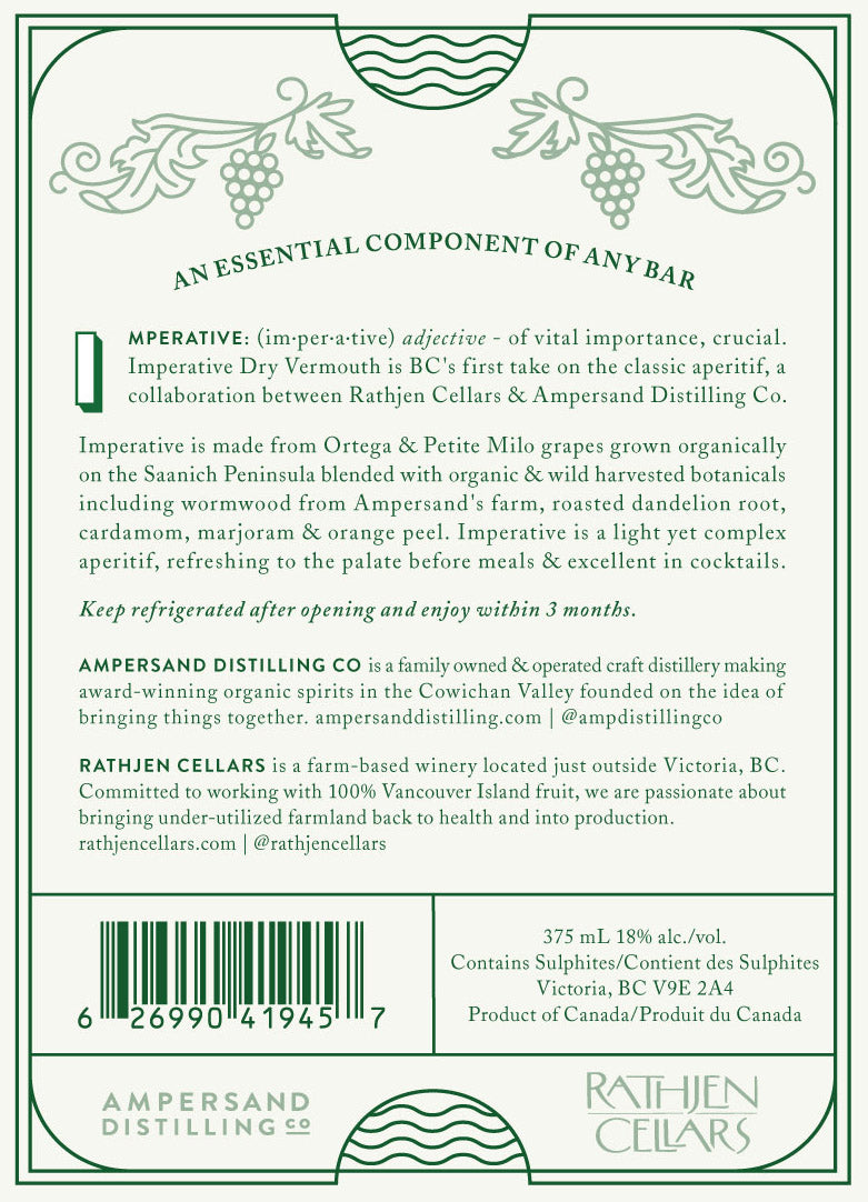 Imperative Dry Vermouth (375mL)
