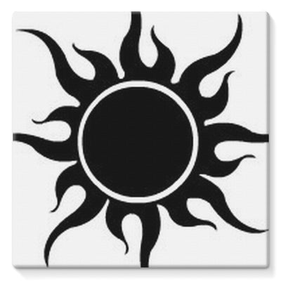 Crazy Desert Black Sun Stretched Canvas