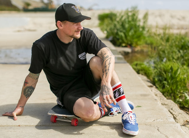 Socco makes the best stripe socks in the market. Made in USA! Model:Mike Vallely