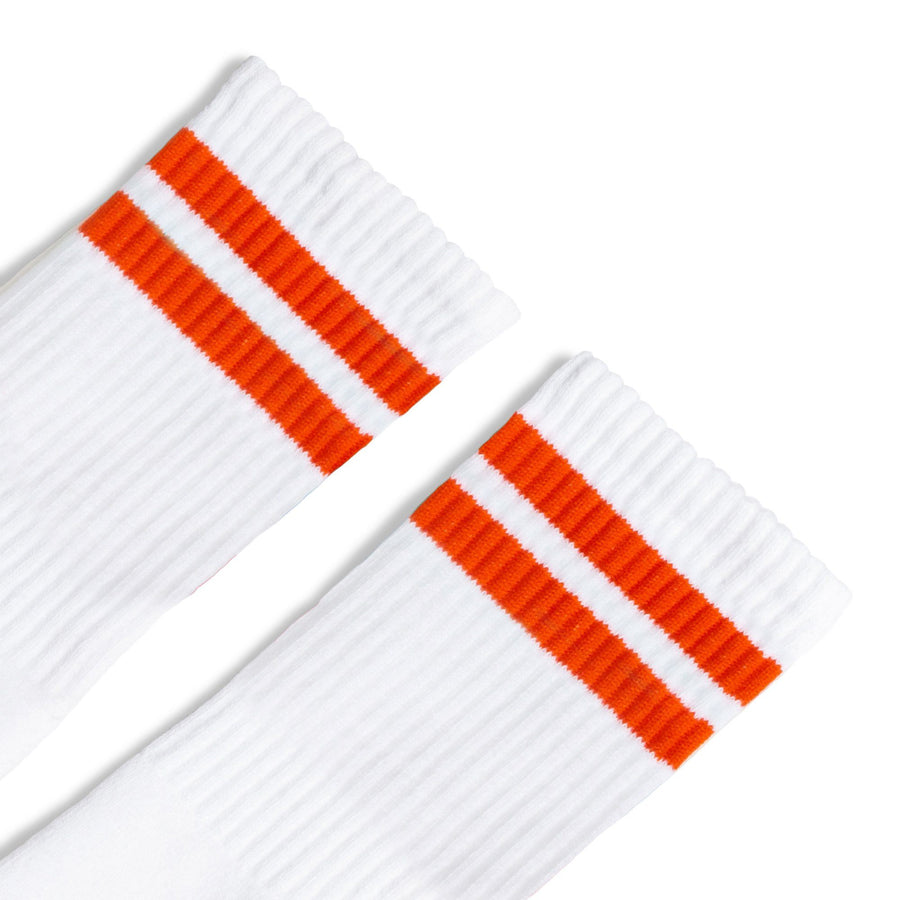 Orange 2-Stripe | White
