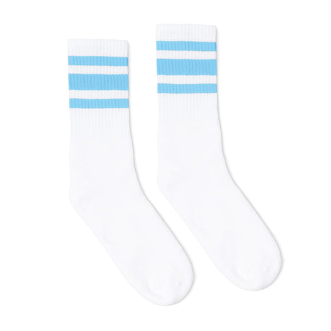 Carolina Blue Striped Socks