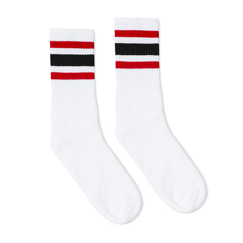 Red and Black Striped Socks
