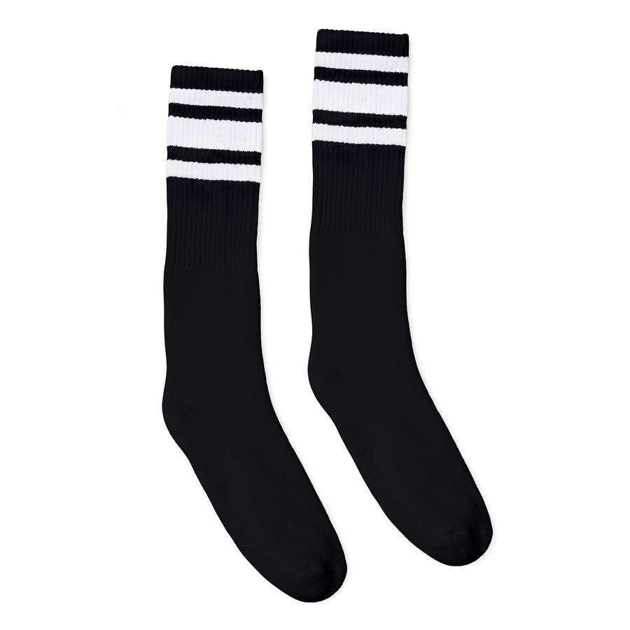 White Striped Socks | Black