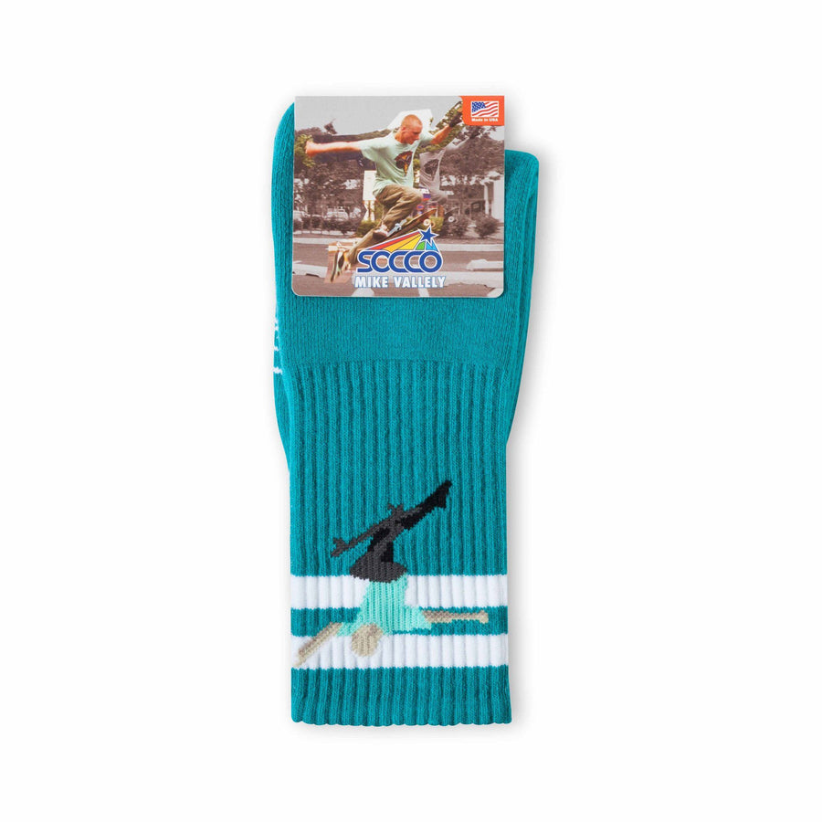 SOCCO x Mike Vallely No Comply Signature Socks | Teal