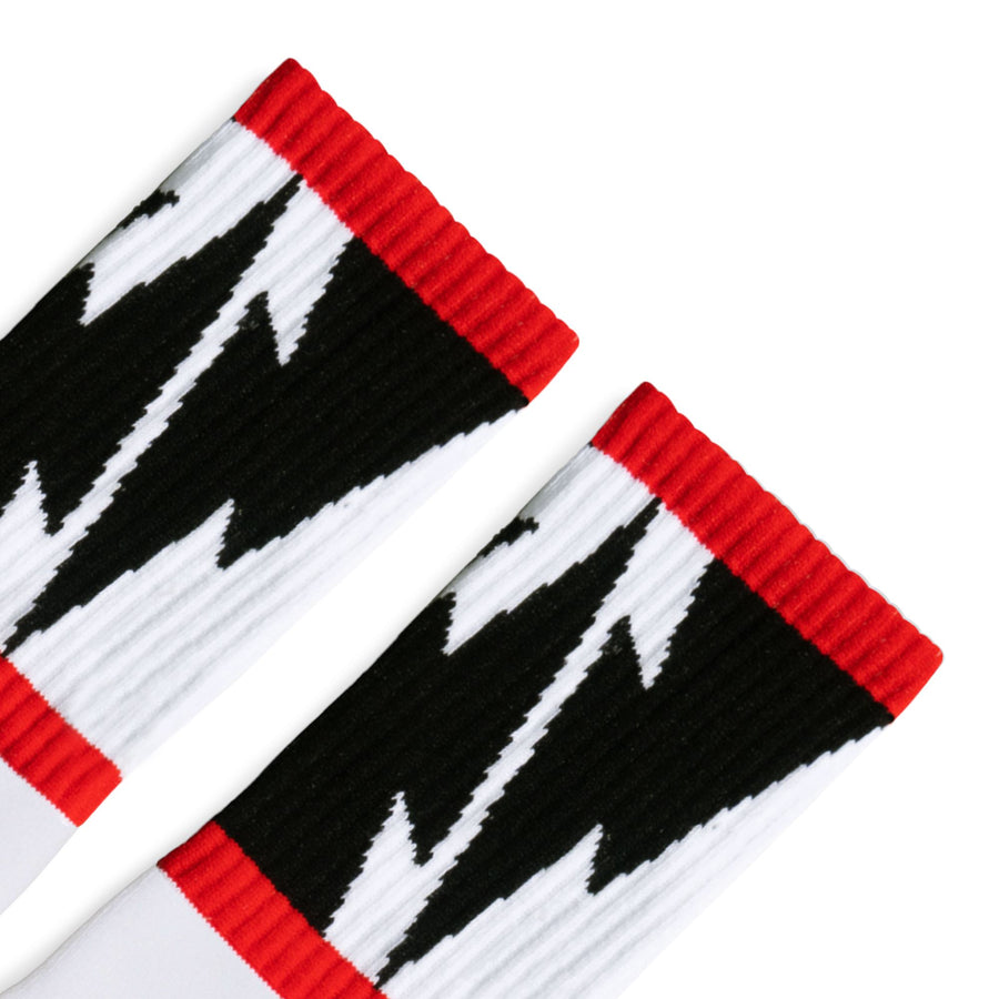 Mike Vallely Lightning Bolt Socks V2 | White