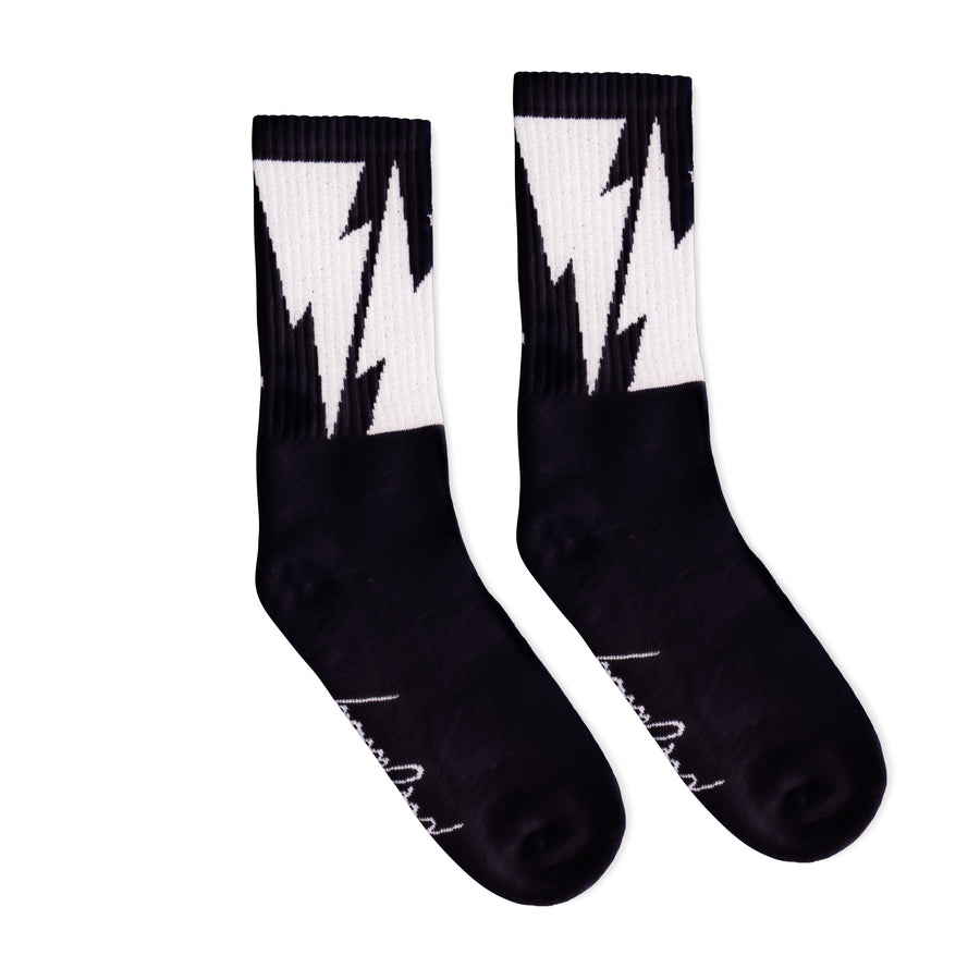 Mike Vallely Bolt Socks | Black